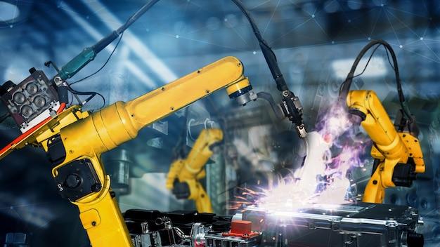 Smart industry robot arms modernization for digital factory technology