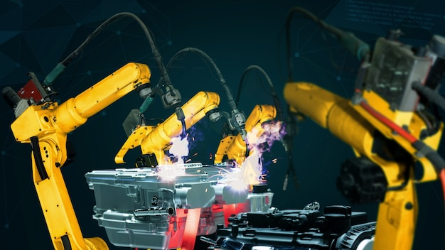 デジタルファクトリーテクノロジーのためのスマート産業ロボットアームの近代化