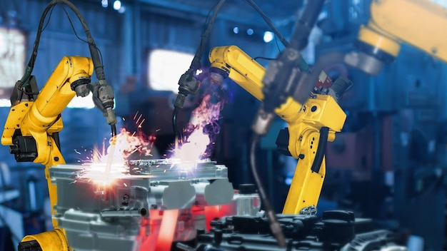디지털 공장 기술을위한 스마트 산업용 로봇 암 현대화