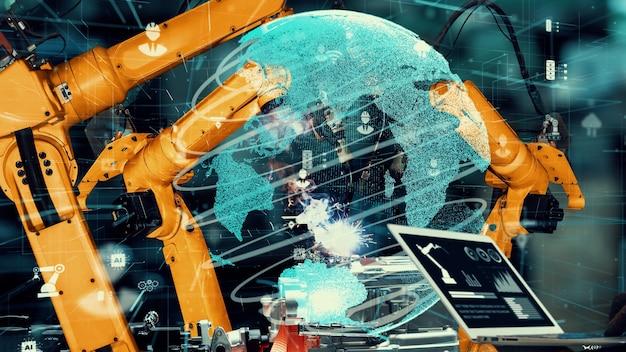 혁신적인 공장 기술을위한 스마트 산업용 로봇 암 현대화