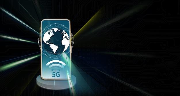 Смартфон цифровая сеть 5g интернет система беспроводной сети 5g