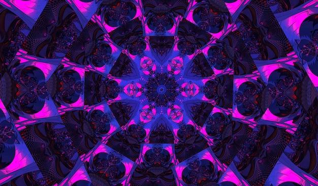 Шикарный фиолетовый круговой орнамент в виде стилизованного цветка. выкройка калейдоскопа для изготовления упаковки, скрапбукинга, подарочной упаковки, книг, буклетов., альбомов.