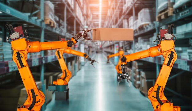 Smart robot arm system for innovative warehouse and factory digital technology
