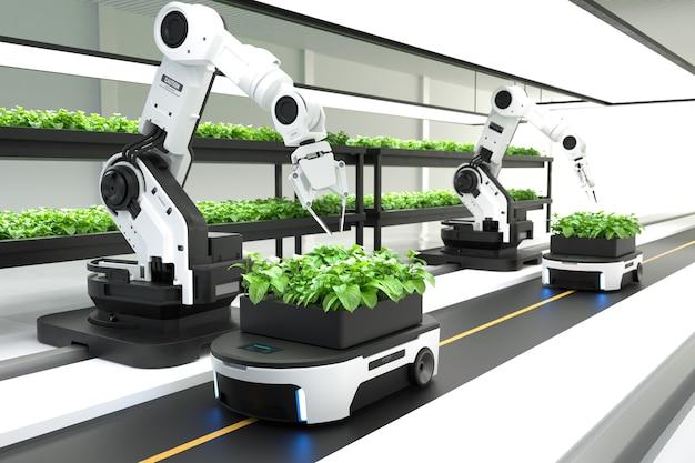 Концепция умных роботов-фермеров
