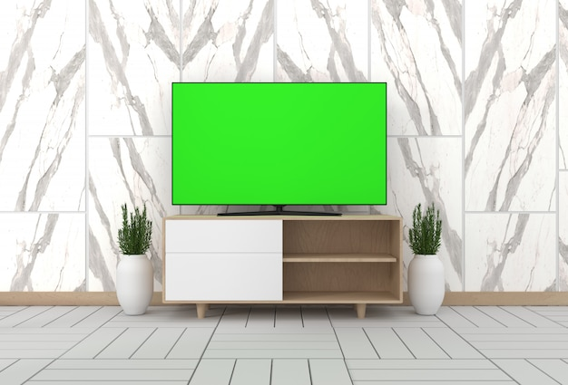 Smart tv mockup cabinet decor