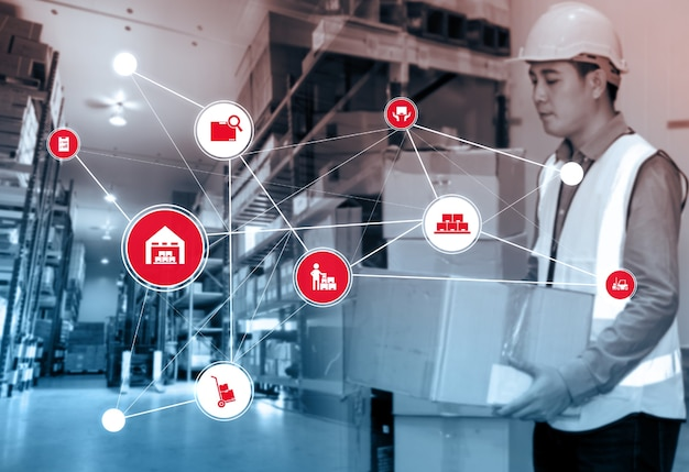 Умная система управления складом с инновационной технологией интернета вещей