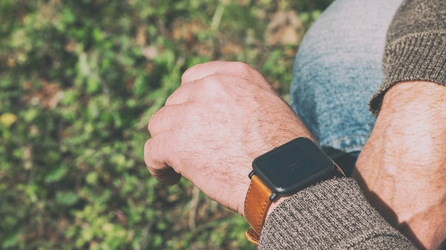 Smart watches on the hand