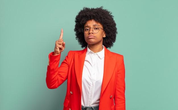 Smart young pretty black woman has an idea