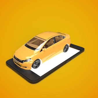 Smartphone application of taxi service for online searching calling and booking a car
