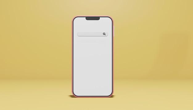 Смартфон в чате концепция в 3d-рендеринге