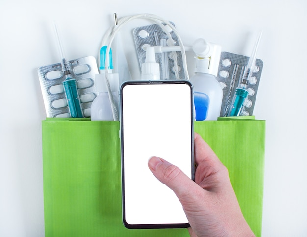 Смартфон для онлайн-заказа лекарств