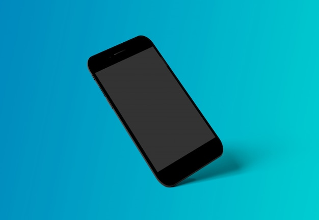 Smartphone isolated onwith shadow - 3d rendering