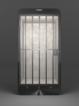 Smartphone jail concept