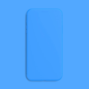 Smartphone mockup blue color isolated