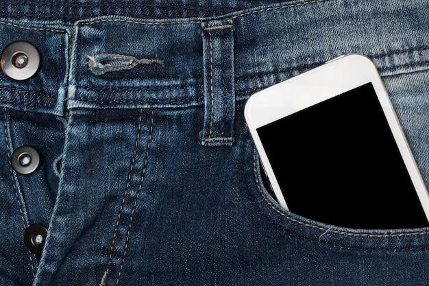 Smartphone in pocket jeans.