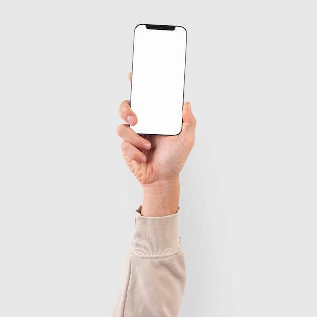 스마트폰 화면 손 디지털 장치