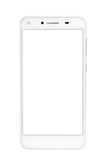 Smartphone, white background