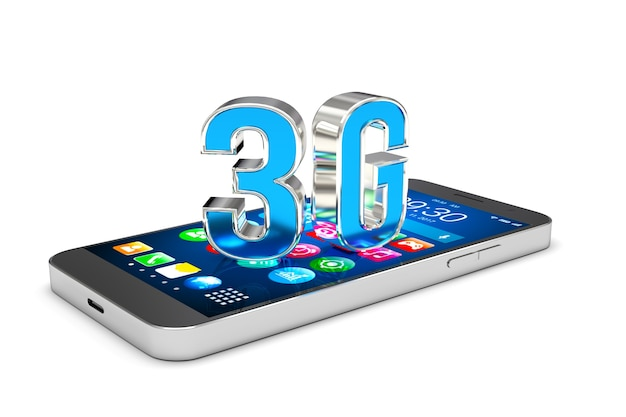 Smartphone with 3g technology 3d render
