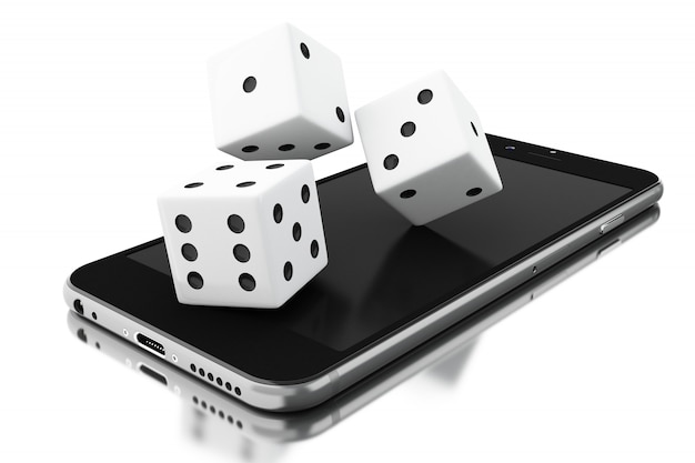 Smartphone with dices
