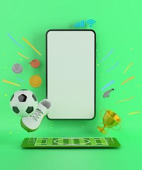 Смартфон со спортивным объектом