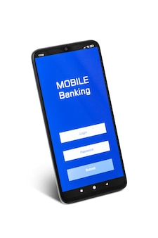 Смартфон с приложением для использования личного имени пользователя и пароля для учетной записи мобильного банкинга
