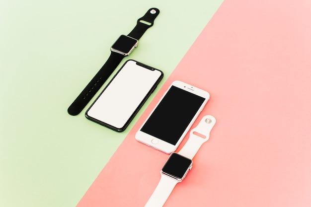 Smartphones and smartwatches