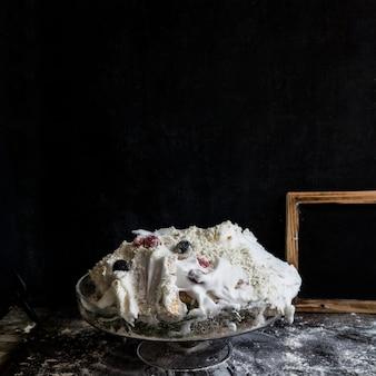 Smashed birthday cake