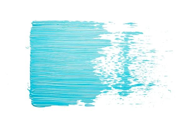Мазок голубой краски на синем