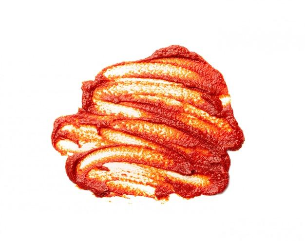 Размазанная лужа томатной заправки