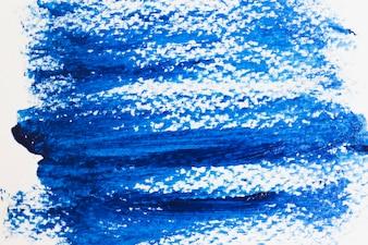 Smears of blue paint