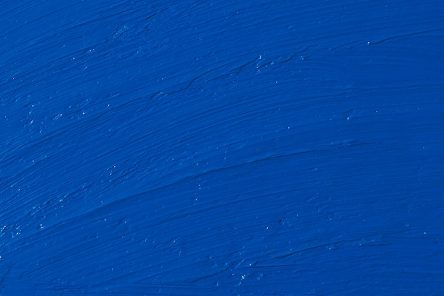 Smears of oil paint. color of the year 2020 - classic blue. color trend palette.