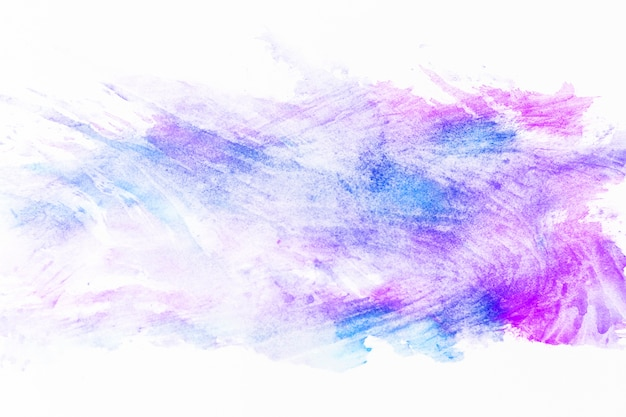 Smears of violet and magenta paint
