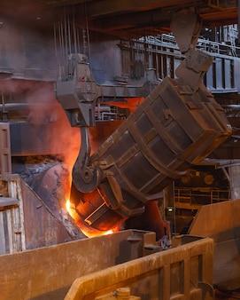 鋳造所での金属の製錬