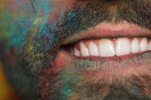 Smile dirty man
