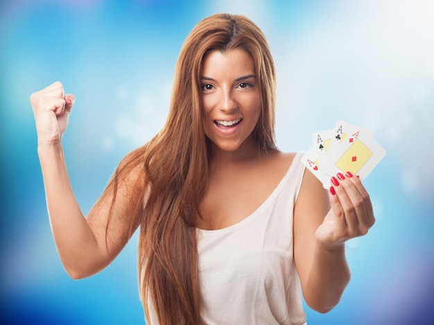 Smile playing luck player bet
