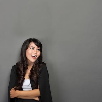 Молодая азиатская коммерсантка smile