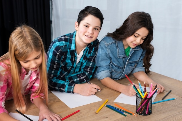 Smiley childrens coloring