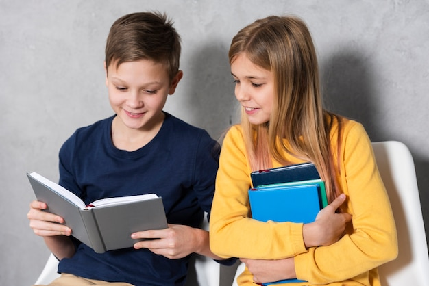Smiley childrens reading