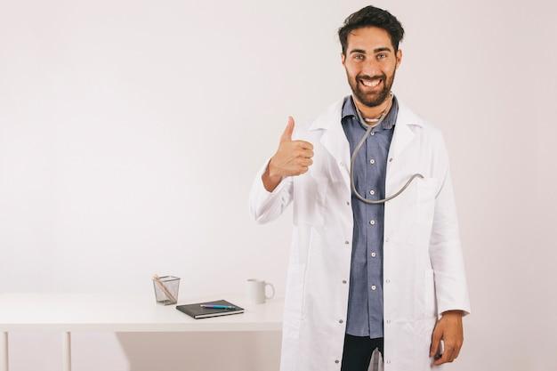 Smiley doctor saying everything is okay