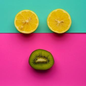 キウイとレモンのスマイリー