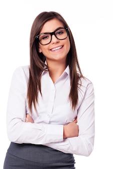 笑顔の実業家