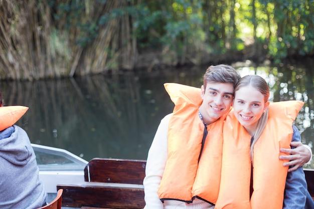 Smiling couple enjoying the excursion