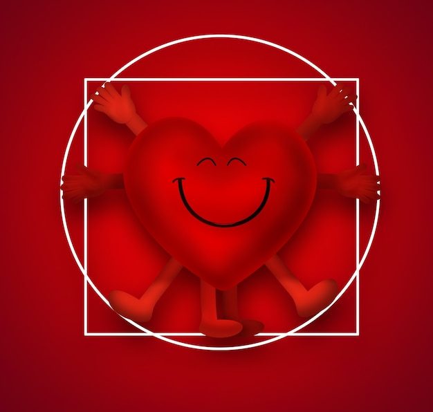 ウィトルウィウス人としての笑顔の心