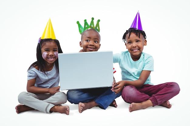 Smiling kids enjoying a party