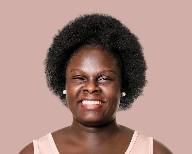 Smiling senior woman portrait, face close up