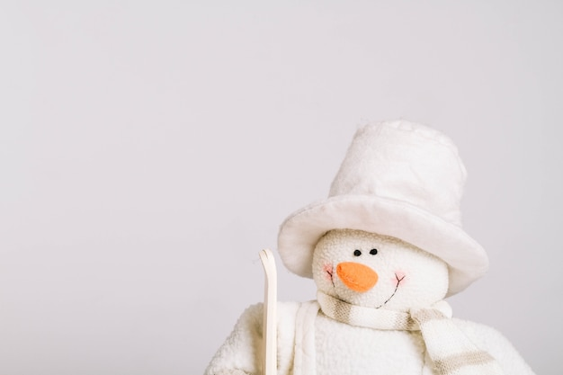 Smiling snowman doll