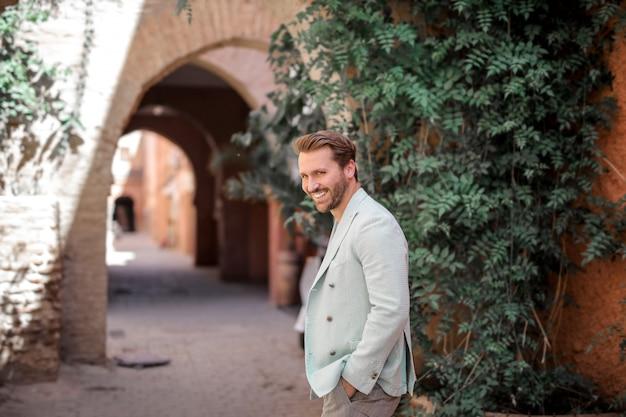 Smiling stylish man