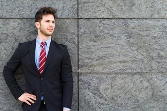 Smiling young businessman portrait