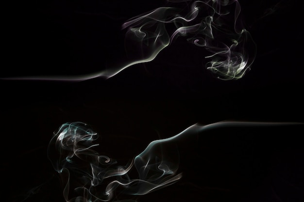 Smoke background of an empty dark room