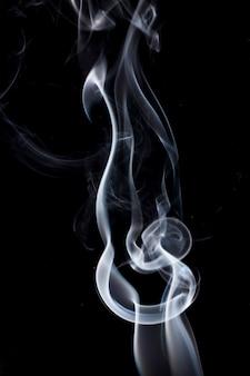 Smoke on black background.